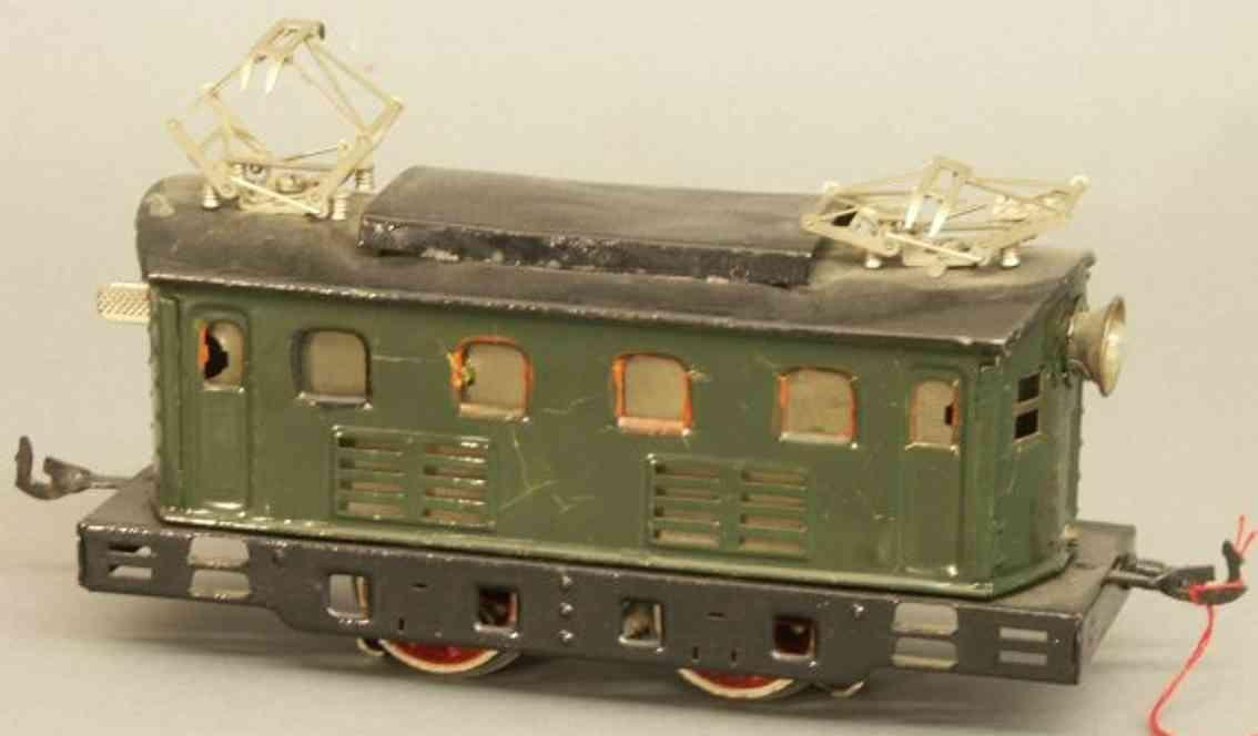 bing 11/883 spielzeug eisenbahn 18 volt elektrolokomotive gruen spur 0