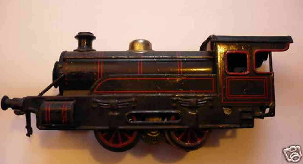 bing 11/860 spielzeug eisenbahn 18-volt dampflokomotive schwarz spur 0