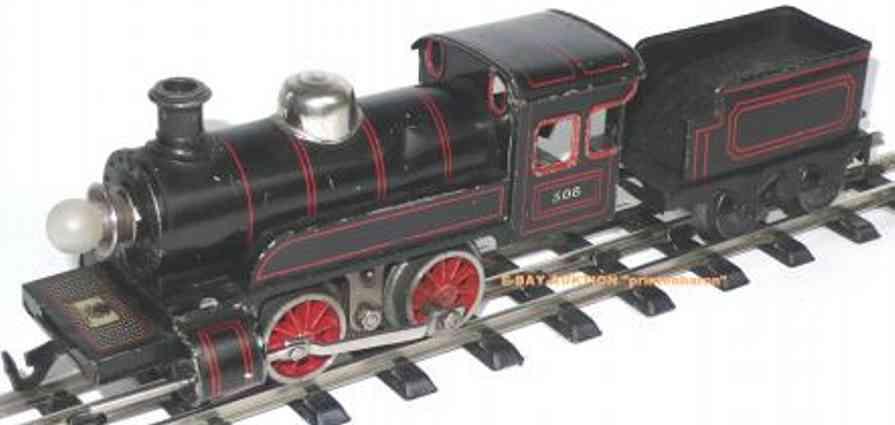 bing 11/862 spielzeug eisenbahn 18-volt dampflokomotive schwarz spur 0
