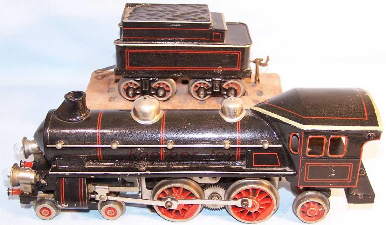 bing 11/866 spielzeug eisenbahn 18 volt dampflokomotive schwarz spur 0