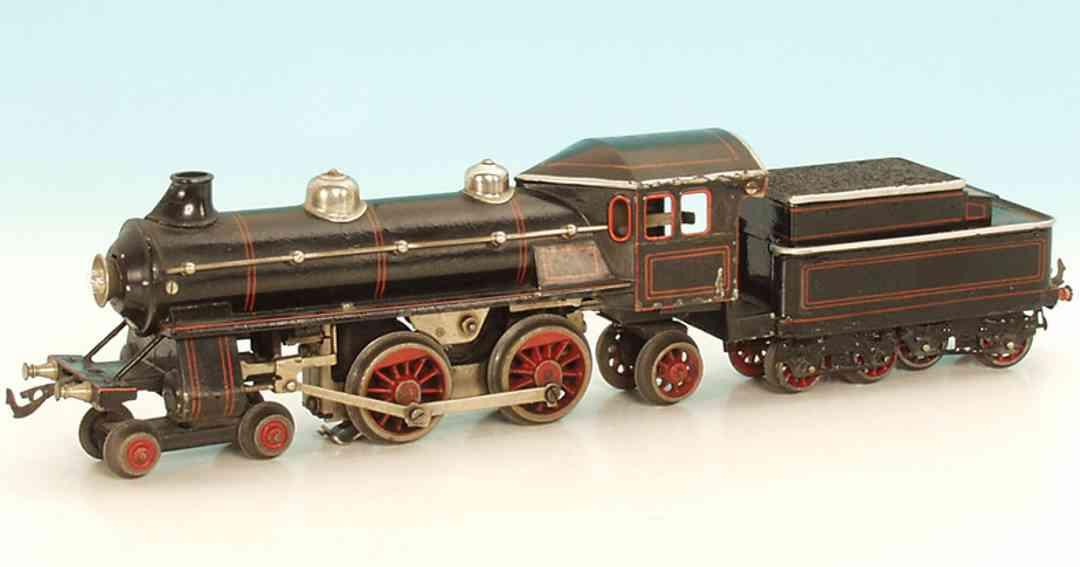 bing 11/866/0 oder 11/887/ spielzeug eisenbahn lokomotive 18 volt lokomotive, achsfolge 2 b1  mit 4-achsigem tender, s