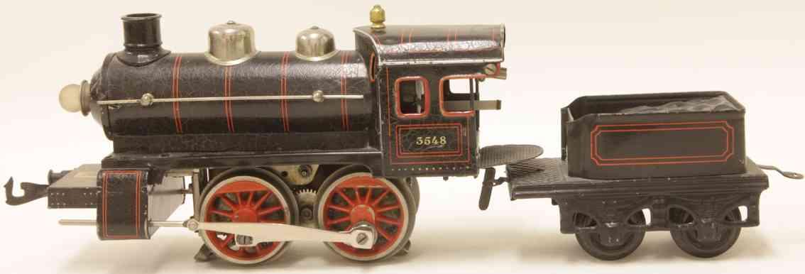 bing 11/870 3548 railway toy engine 18-volt steam locomotive black gauge 0
