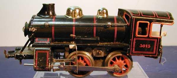 bing 11/870 spielzeug eisenbahn 18-volt dampflokomotive schwarz spur 0