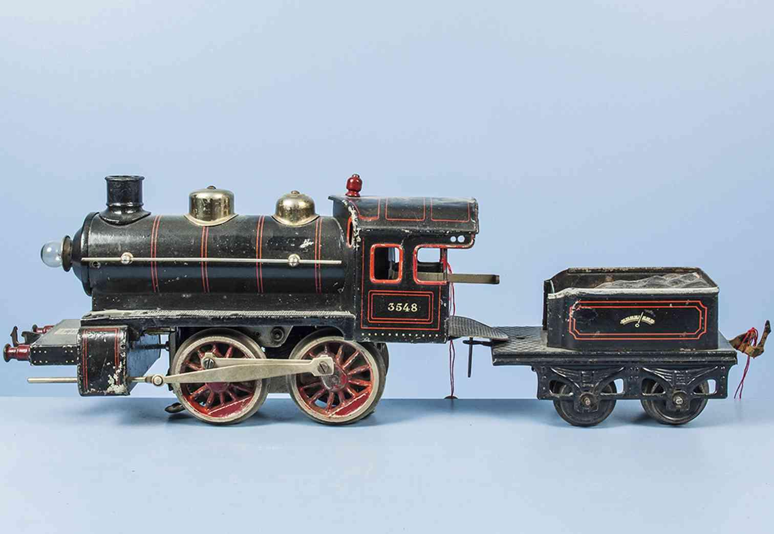 bing 11/870 eisenbahn 18 volt dampflokomotive tender schwarz 3548 spur 1