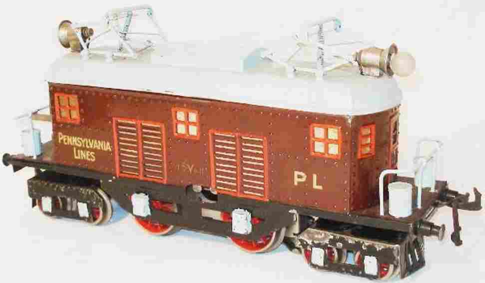 bing 11/871 spielzeug eisenbahn amerikanische vollbahnlokomotive braun spur 1