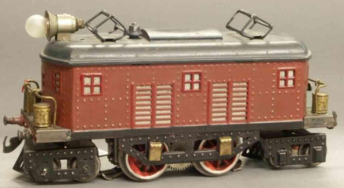 bing 11/871 spielzeug eisenbahn amerikanische vollbahnlokomotive braun spur 0