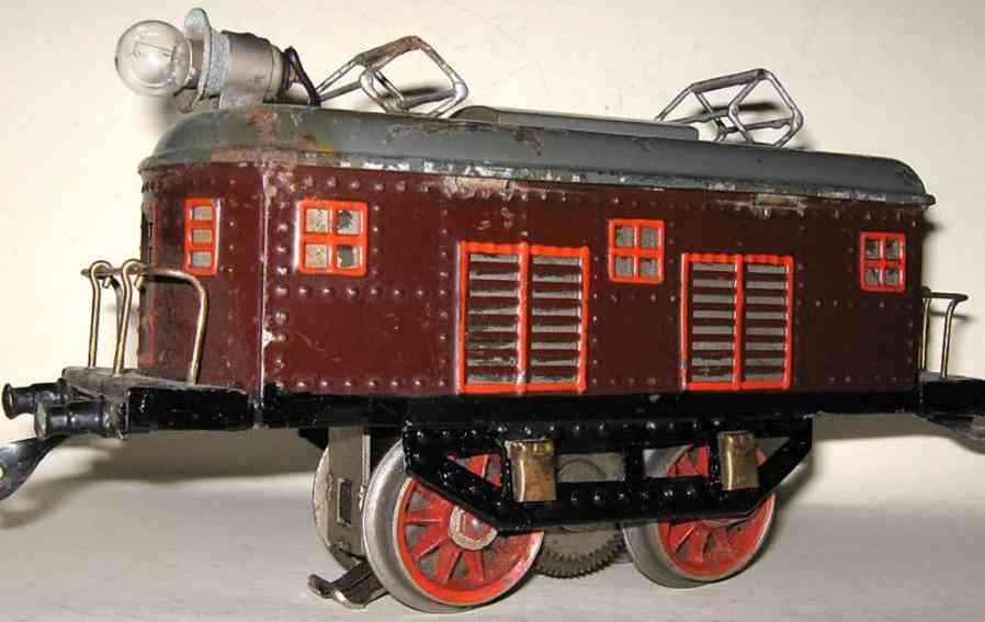 bing 11/871 spielzeug eisenbahn 18 volt elektrotriebwagen weinrot spur 1