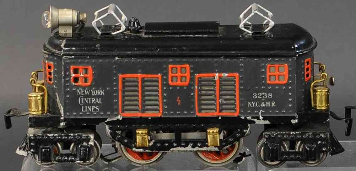 bing 11/871 nyc railway toy engine american full train locomotive black gauge 0