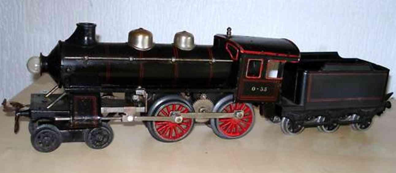 bing 11/872 spielzeug eisenbahn 18 volt dampflokomotive schwarz spur 0