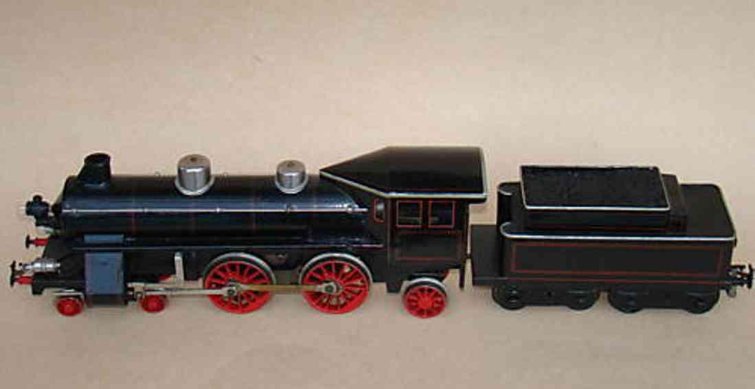 bing 11/873 spielzeug eisenbahn dampflokomotive  tender schwarz spur 1