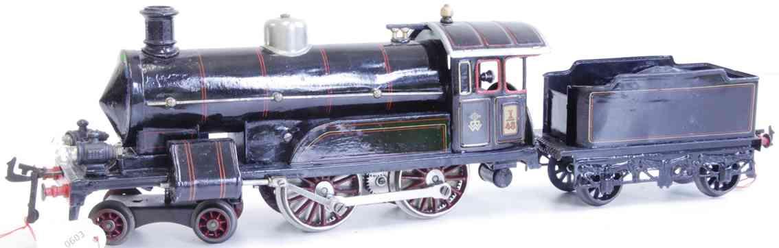 bing 11/875 railway toy engine heavy-current tender locomotive black gauge 1