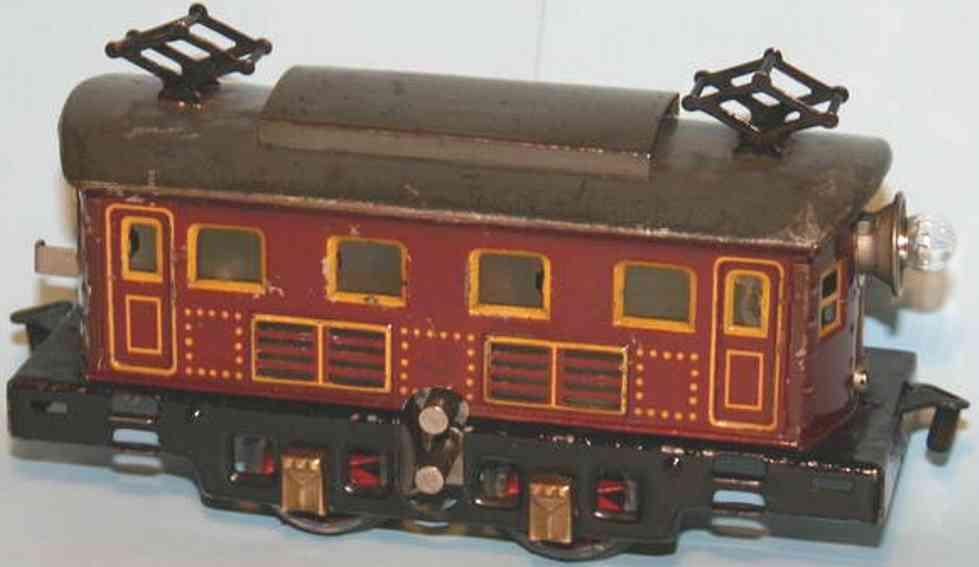 bing 11/881 spielzeug eisenbahn 18-volt-vollbahnlokomotive triebwagen braun spur 0
