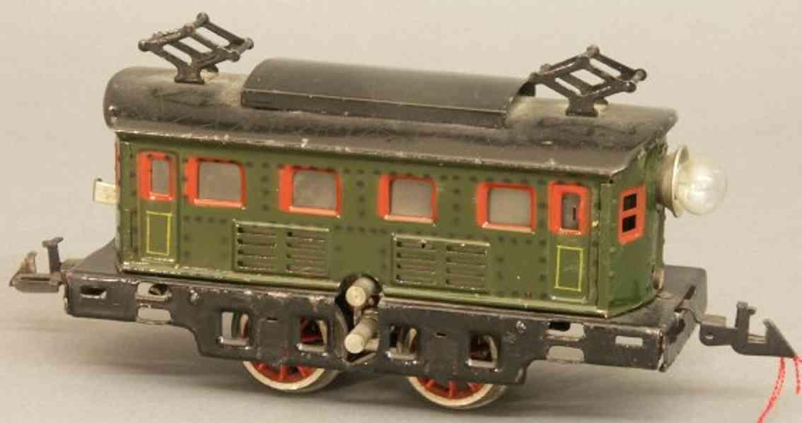 bing 11/881 spielzeug eisenbahn 18-volt-elektrolokomotive gruen spur 0