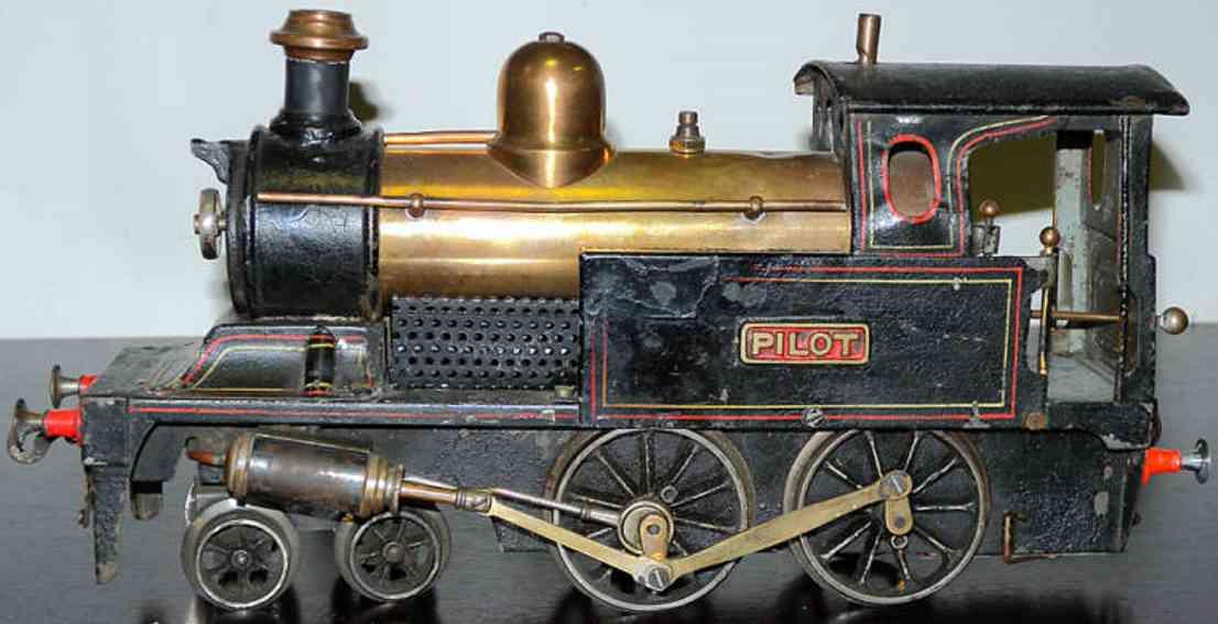 bing 13342/2 spielzeug eisenbahn spiritus-dampflokomotive schwarz spur 2
