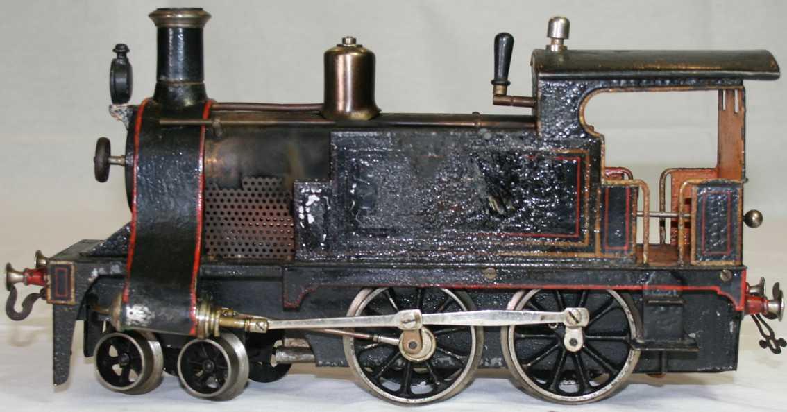 bing 13345/2 railway toy engine spirit steam locomotive black gauge 2