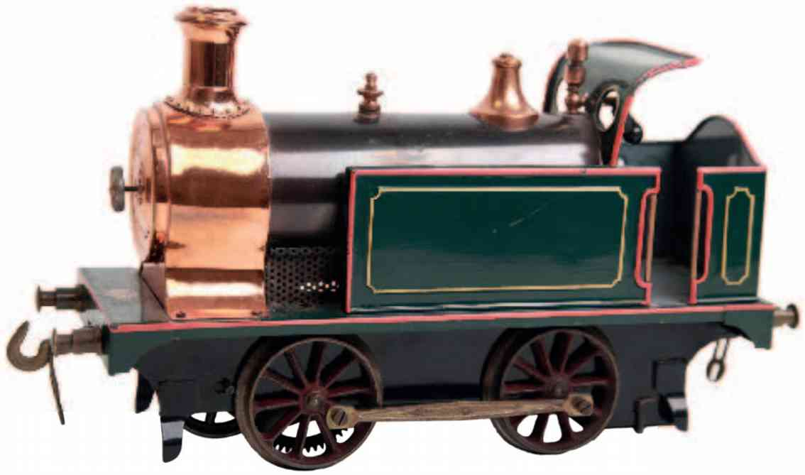 bing 13761/III railway toy engine spirit tender steam locomotive green gauge 3