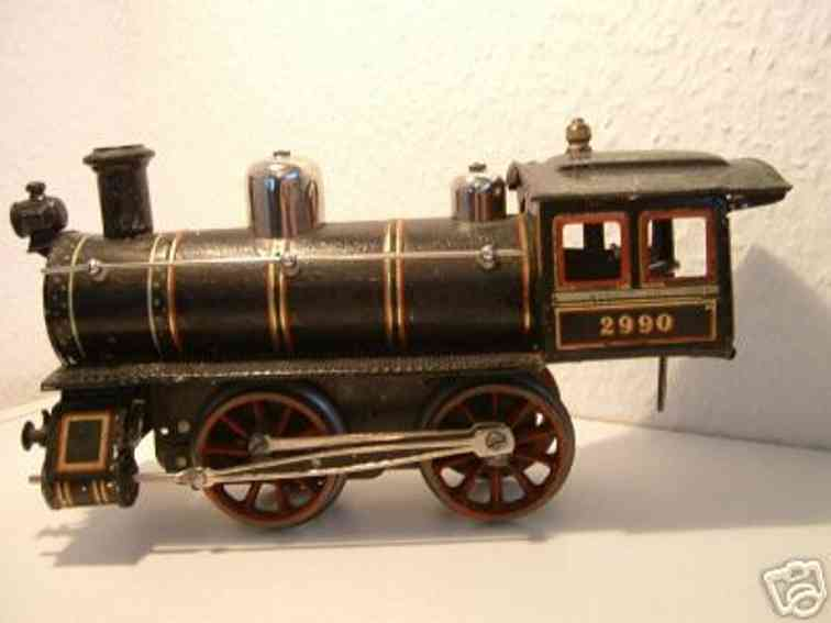 bing 14256 eisenbahn uhrwerk-dampflokomotive schwarz spur 1
