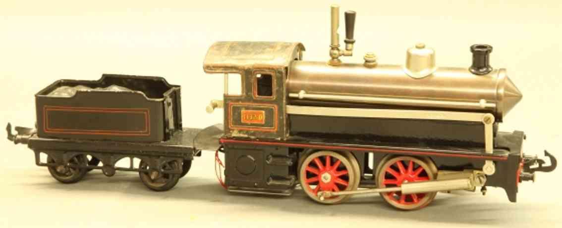 bing 160/1575 spielzeug eisenbahn spiritusdampflokomotive gruen schwarz Spur 0