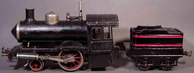 bing 160/580 spielzeug eisenbahn spiritus-dampflokomotive schwarz spur 0