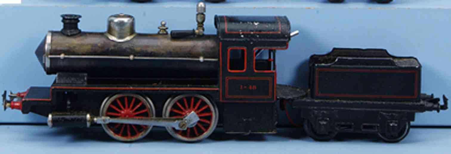 bing 161/1573 railway toy engine spirit steam locomotive with tender gauge 1