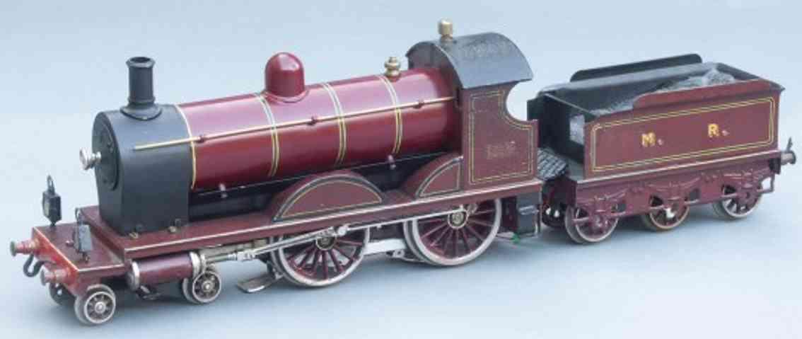 bing 161/1593 spielzeug eisenbahn schlepptenderlokomotive tender rotbraun spur 1