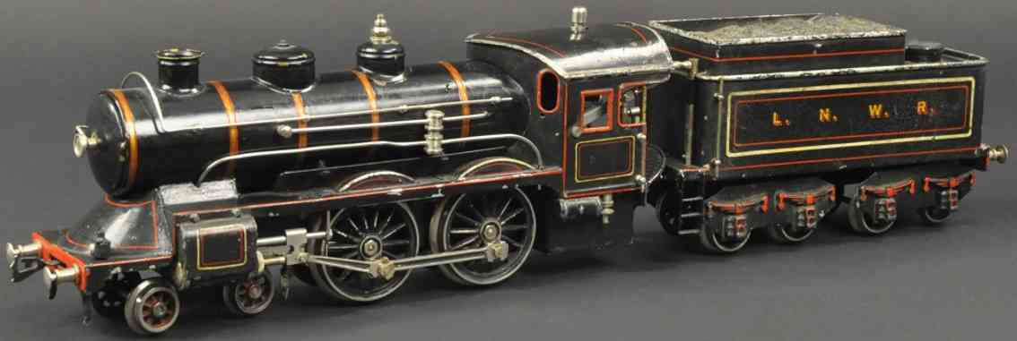bing 161/590 spielzeug eisenbahn englische spiritus-dampflokomotive schwarz spur 1