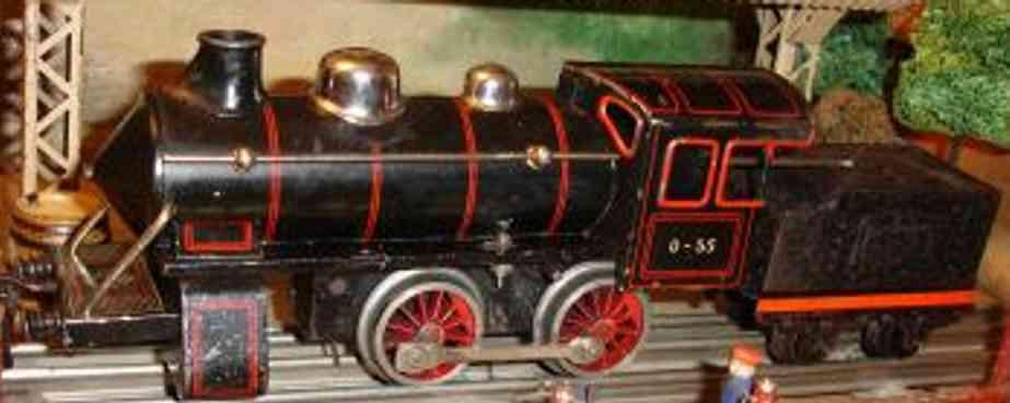 bing 170/1581 spielzeug eisenbahn uhrwerk-dampflokomotive schwarz spur 0