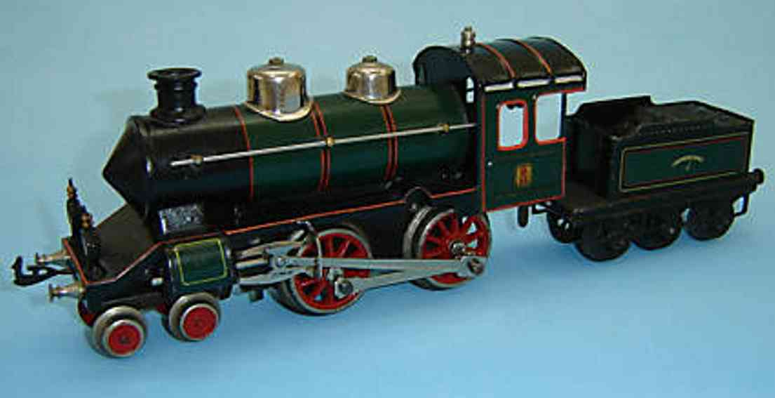 bing 170/3595 spielzeug eisenbahn uhrwerklokomotive spur 0