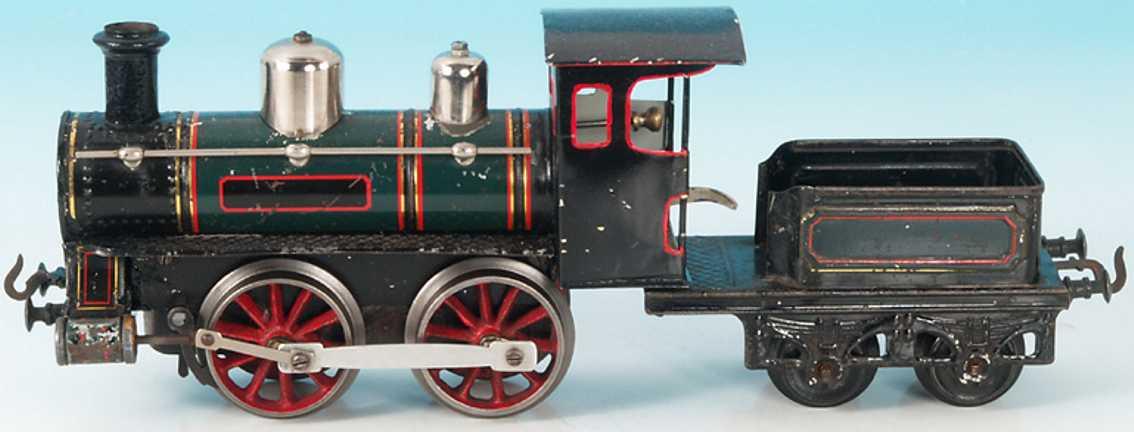 bing 171/1566 spielzeug eisenbahn dampflokomotive tender gruen schwarz spur 1