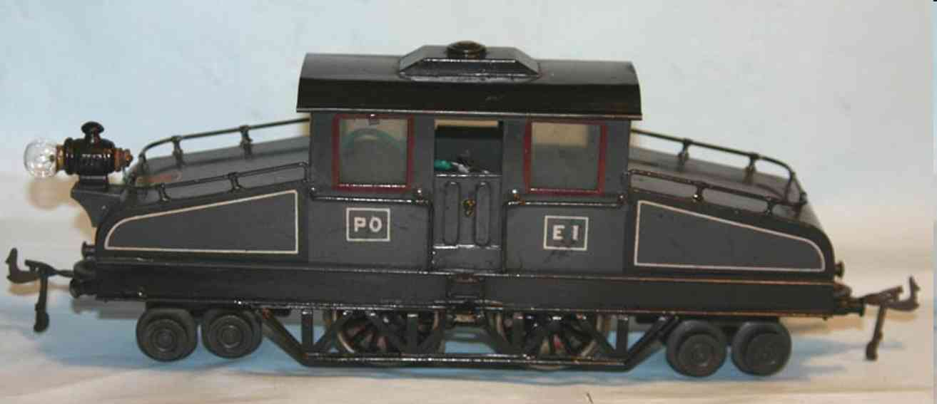 bing 180/541 spielzeug eisenbahn franzoesische vollbahnlokomotive grau spur 0