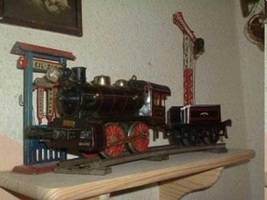 bing 181/2517 spielzeug eisenbahn schwachstrom-dampflokomotive schwarz spur 1