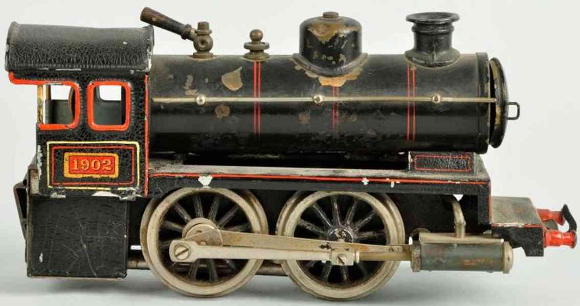 bing 20593/0 spielzeug eisenbahn englische uhrwerklokomotive schwarz spur 0