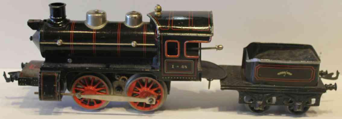 bing 191/2517 spielzeug eisenbahn elektrische dampflokomotive schwarz spur 1
