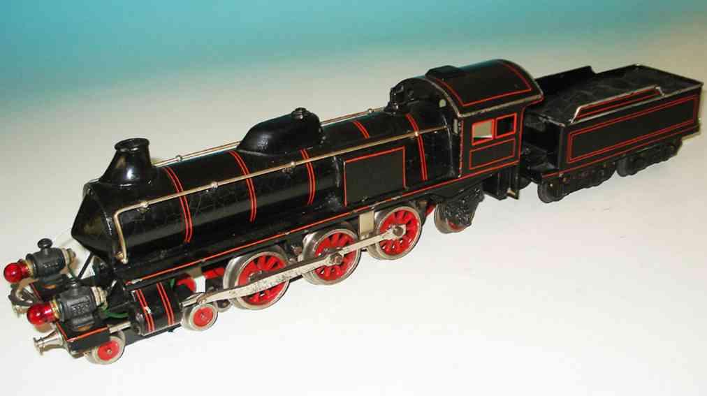 bing 200/3575 spielzeug eisenbahn starkstrom-dampflokomotive schwarz spur 0