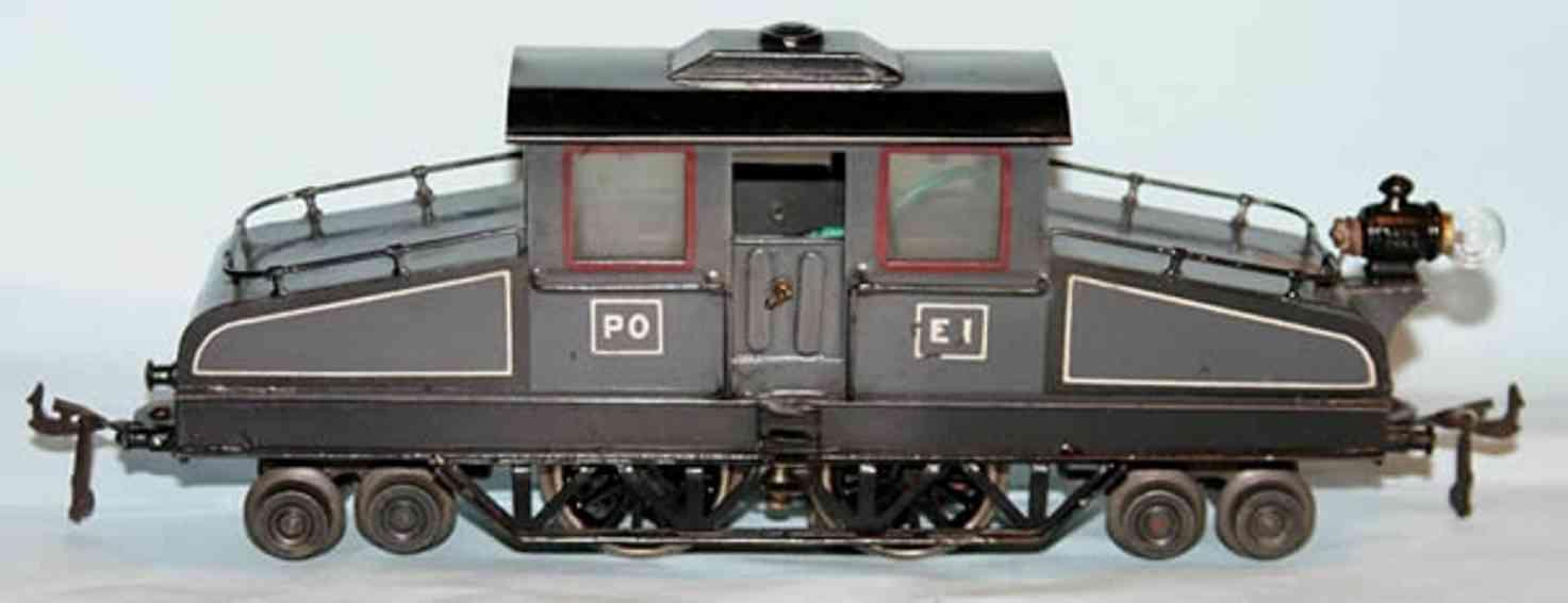 bing 200/541 eisenbahn starkstrom-vollbahnlokomotive grau schwarz spur 0