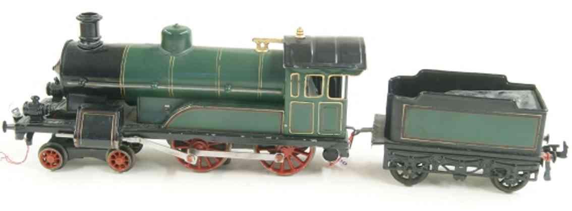 bing 201/2523 spielzeug eisenbahn starkstromdampflokomotive gruen schwarz spur 1