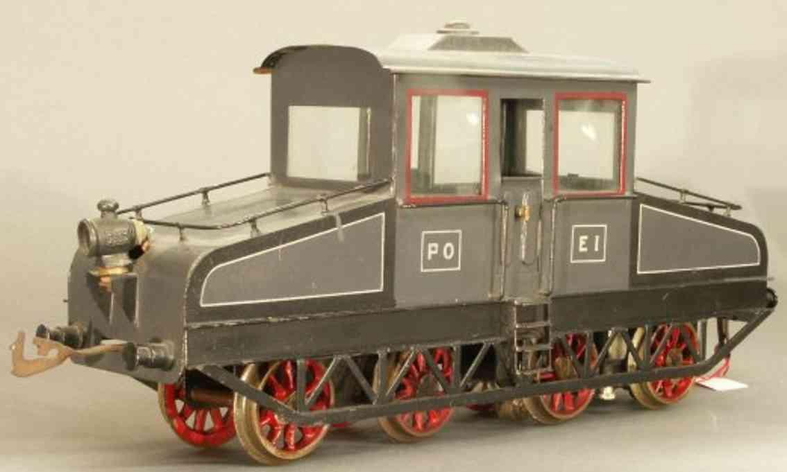 bing 201/541 spielzeug eisenbahn starkstrom-vollbahnlokomotive grau spur 1
