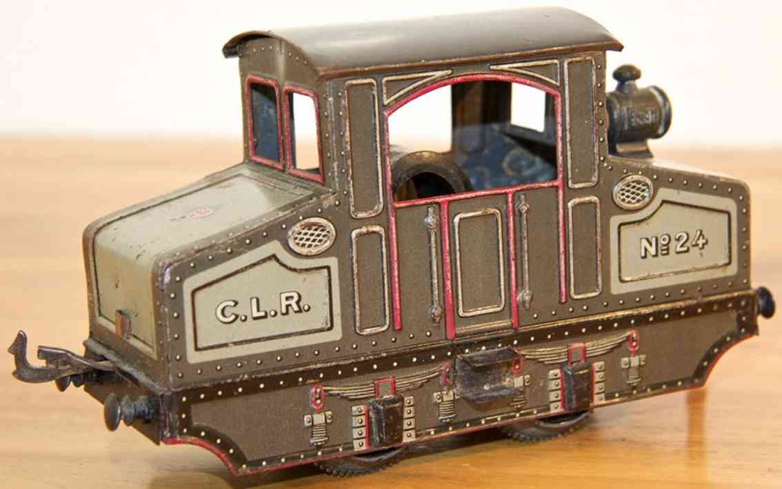 bing 210/2550 starkstrom tunnellokomotive grau spur 0