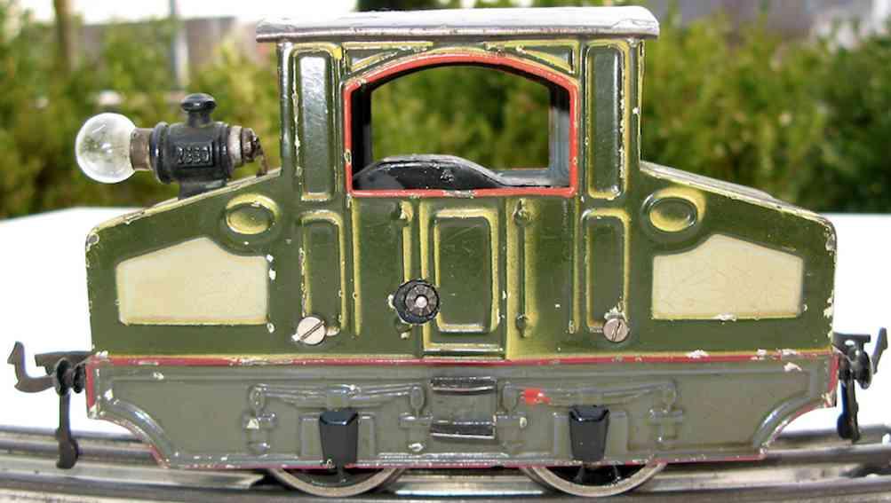 bing 210/2560 eisenbahn starkstrom-vollbahnlokomotive gruen spur 0