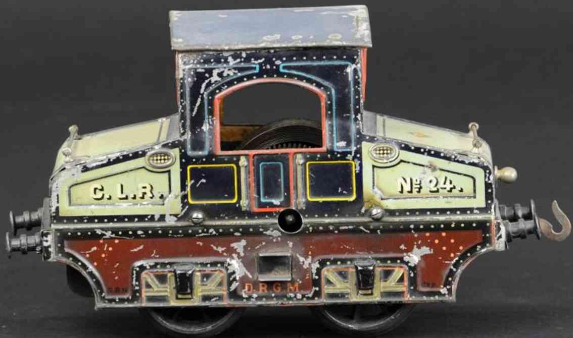 bing 210/2560 eisenbahn starkstrom-vollbahnlokomotive blau spur 0