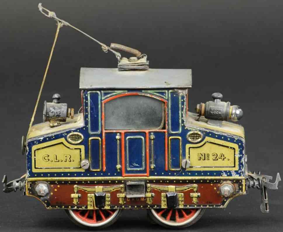 bing 210/2560 englische starkstrom-vollbahnlokomotive blau spur 0