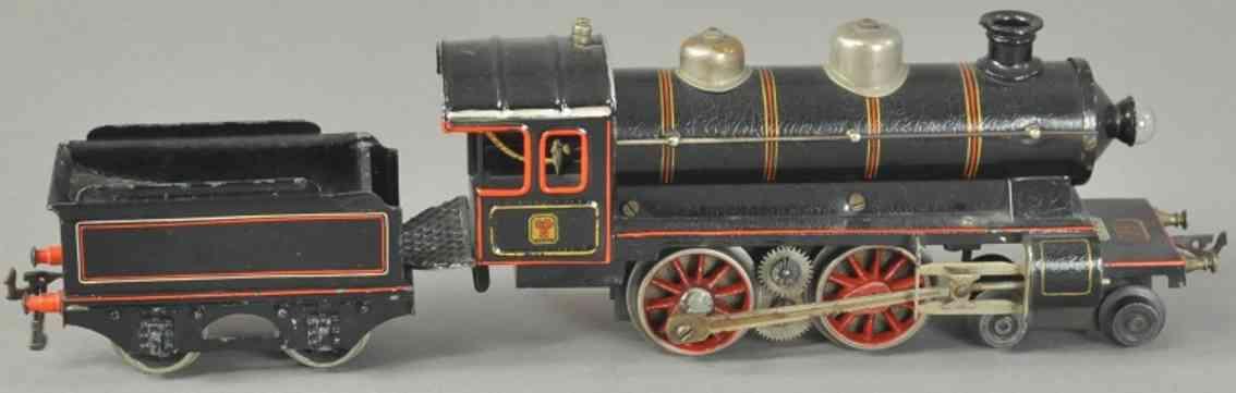bing 210/3569 eisenbahn starkstrom-dampflokomotive schwarz spur 0