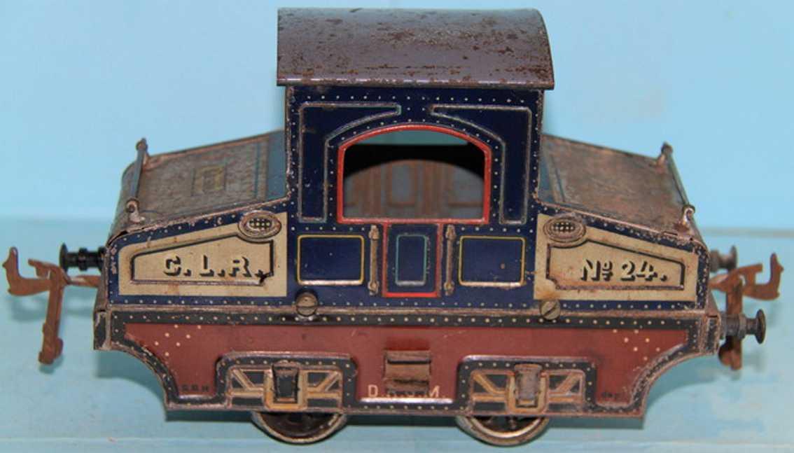 bing 211/2560 spielzeug eisenbahn englische vollbahnlokomotive dunkelblau spur 1