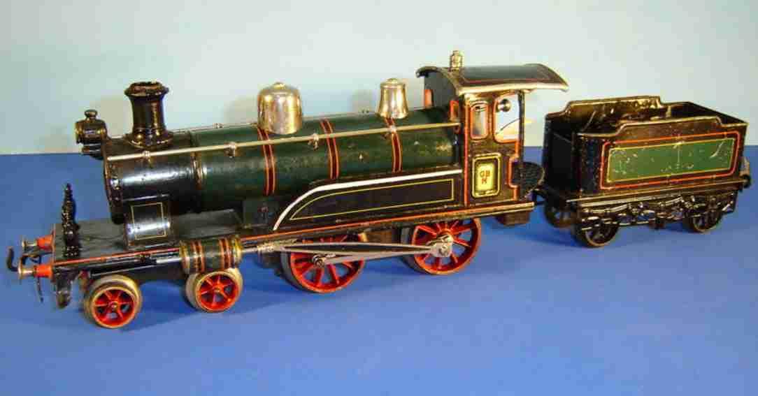 bing 211/3569 spielzeug eisenbahn starkstrom-dampflokomotive schwarz spur 0