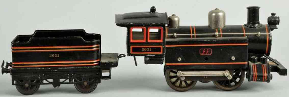 bing 2631 spielzeug eisenbahn englische lokomotive tender schwarz spur 1