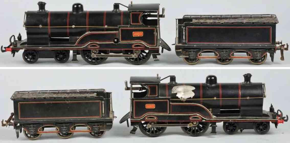 bing 2663 spielzeug eisenbahn englische uhrwerkdampflokomotive tender spur 1