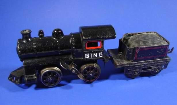 bing spielzeug eisenbahn amerikanische uhrwerk-dampflokomotive schwarz spur 0