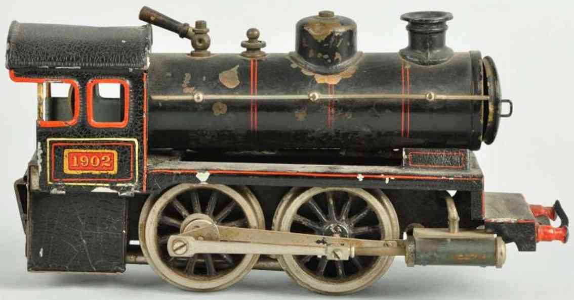 bing 28593/0 spielzeug eisenbahn englische spiritus-dampflokomotive schwarz spur 0