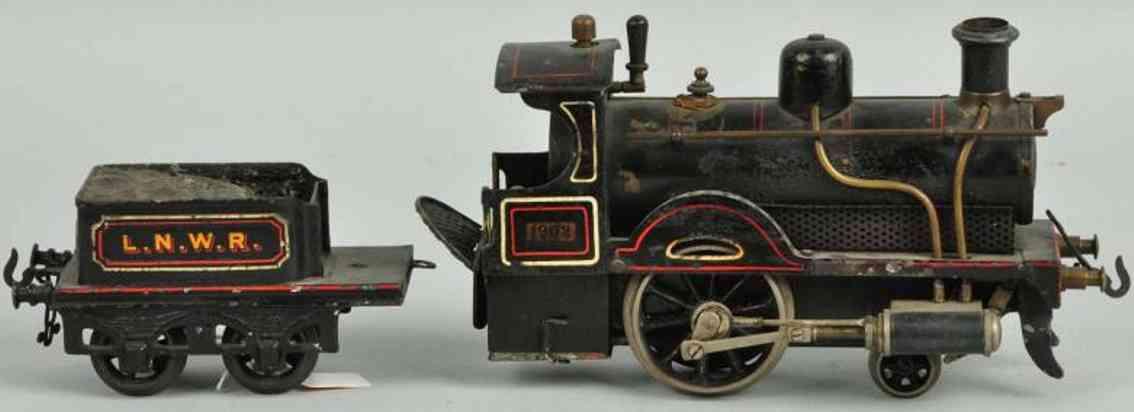 bing 28593/1 lnwr spielzeug spiritus-dampflokomotive tender schwarz spur 1
