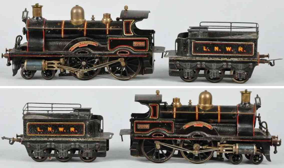 bing 33593 7093 railway toy engine live steam engine tender king edward gauge 3